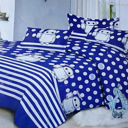 Deluxe Bedsheet With 4pillow Case Cartoon Character