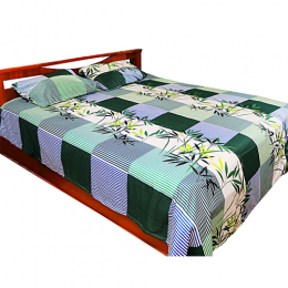 Deluxe Flora Design Bedsheets With 2pillow Case