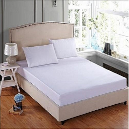 Deluxe White Bedsheet With 2 Pillow Covers | WC103C