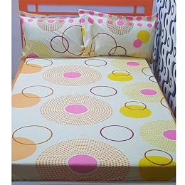 Deluxe Circle Design Bedsheet With 2/4 Pillow Cases