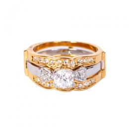 Detachable 3 In1 Wedding Ring Goldmix
