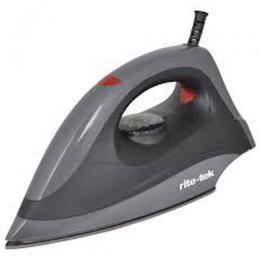 RITE-TEK DI 172 DRY IRON|1200 watts|Sole plate|1.8 metre power cord length