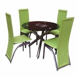 Dining Table Set with 4 Chairs (Lemon Green)
