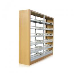 Library Double sided MDF Book Shelf - deluxe.com.ng