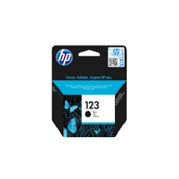 HP 123 Black Original Ink Cartridge (DW)