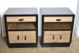 DECO WOODEN BEDSIDE CABINET (WOODEN) - deluxe.com.ng