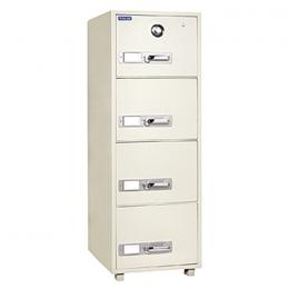 Gubabi 4-drawer Fireproof Cabinet - Combination Lock