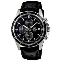 CASIO GENT'S EFR-526L-1AVUDF EDIFICE CHRONOGRAPH BLACK DIAL MEDIUM WATCH
