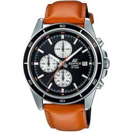 CASIO GENT'S EFR-526L-1BVUDF EDIFICE CHRONOGRAPH BROWN LEATHER MEDIUM WATCH