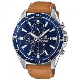 CASIO GENTS EFR-546L-2AVUDF EDIFICE CHRONOGRAPH BLUE DIAL TAN LEATHER WATCH
