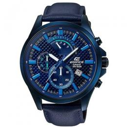 CASIO GENTS EFV-530BL-2AVUDF RETROGRADE CHRONOGRAPH BLUE LEATHER WATCH
