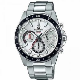 CASIO EFV-570D-7AVUDF MEN'S EDIFICE SILVER CHRONOGRAPH DIAL MEDIUM SIZE WATCH