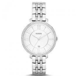 FOSSIL ES3545 WOMEN'S JACQUELINE CRYSTAL ACCENTED SILVER BRACELET WATCH