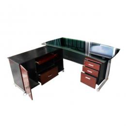 Executive Office Desk Glass 2630 2.0m