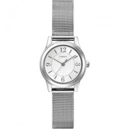 TIMEX T2P457 WOMEN'S CASEY DRESS SILVER MESH BRACELET SMALL WATCH