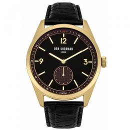 BEN SHERMAN WB052BG MEN'S LONDON CARNABY DRIVER GOLD CASE WATCH