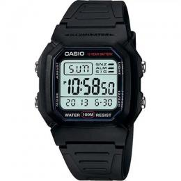 CASIO W800H-1AV MEN'S CLASSIC SPORT BLACK BAND SMALL SIZE WATCH