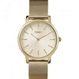 TIMEX TW2R36100 WOMEN'S SKYLINE ANALOG GOLD MESH STRAP WATCH