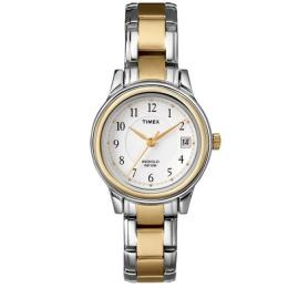 TIMEX T25771 WOMEN'S FASHION TWO-TONE BRACELET SMALL SIZE WATCH