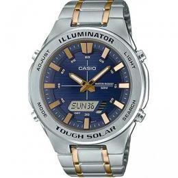 CASIO AMWS850SG-2AV MEN'S SOLAR POWERED MULTI-FUNCTION TWO-TONE BRACELET WATCH