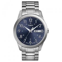 TIMEX T2M933 MEN'S SILVER TONE STAINLESS EXPANSION WATCH