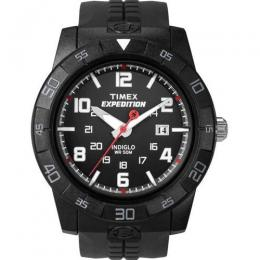 TIMEX T49831 MEN'S EXPEDITION INDIGLO RUGGED CORE ANALOG BLACK RESIN WATCH