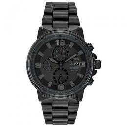 CITIZEN CA0295-58E MEN'S NIGHT HAWK ECO-DRIVE BLACK CHRONOGRAPH WATCH