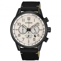CITIZEN CA4425-10X MEN'S ECO-DRIVE TACHYMETER LEATHER WATCH