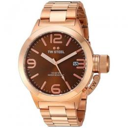 TW STEEL CB191 MEN'S CANTEEN QUARTZ BROWN DIAL ROSE GOLD WATCH