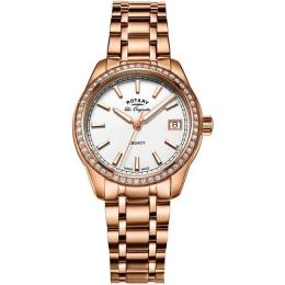ROTARY LB90176/01 WOMEN'S LEGACY ROSE GOLD SWISS MEDIUM WATCH