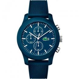 LACOSTE 2010824 MEN'S LACOSTE 12.12 CHRONOGRAPH BLUE SILICONE WATCH