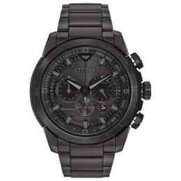 CITIZEN CA4184-81E MEN'S ECO-DRIVE CHRONOGRAPH STAINLESS STEEL LARGE WATCH