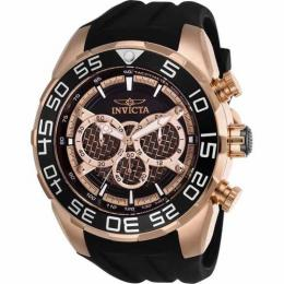 INVICTA 26304 MEN'S SPEEDWAY QUARTZ MULTIFUNCTION ROSE GOLD, BLACK DIAL LARGE WATCH