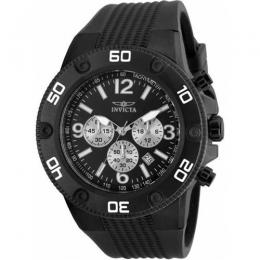 INVICTA 20274 MEN'S PRO DIVER QUARTZ CHRONOGRAPH BLACK DIAL LARGE WATCH