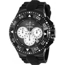 INVICTA 23041 MEN'S EXCURSION QUARTZ CHRONOGRAPH BLACK, SILVER DIAL LARGE WATCH