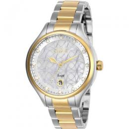 INVICTA 27436 WOMEN'S ANGEL QUARTZ 3 HAND WHITE DIAL WATCH