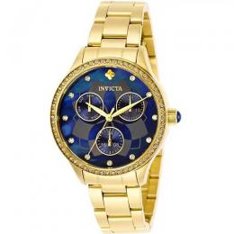 INVICTA 29095 WOMEN'S WILDFLOWER QUARTZ 3 HAND BLUE DIAL WATCH