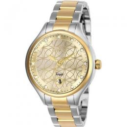 INVICTA 27435 WOMEN'S ANGEL QUARTZ 3 HAND GOLD DIAL WATCH