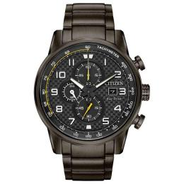 CITIZEN CA0687-58E MEN'S PRIMO CHRONOGRAPH GUNMETAL BRACELET WATCH