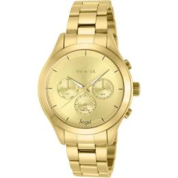 INVICTA 12466 WOMEN'S ANGEL GOLD-TONE STAINLESS STEEL LARGE SIZE WATCH