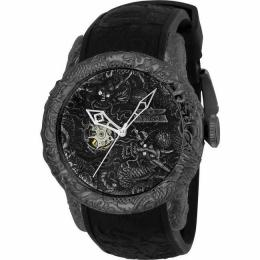 INVICTA 25081 MEN'S S1 RALLY AUTOMATIC 0 GUNMETAL DIAL BLACK LARGE WATCH