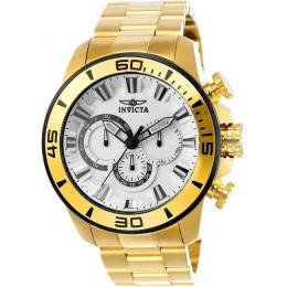 INVICTA 22589 MEN'S PRO DIVER CHRONOGRAPH GOLD WATCH
