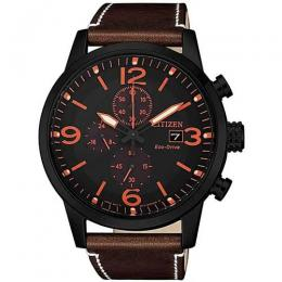 CITIZEN CA0617-11E MEN'S ECO-DRIVE CHRONOGRAPH LEATHER WATCH