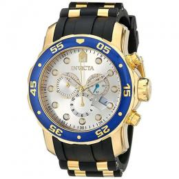 INVICTA 17880 MEN'S PRO DIVER QUARTZ MULTIFUNCTION SILVER DIAL WATCH