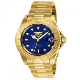 INVICTA 26997 MEN'S PRO DIVER AUTOMATIC BLUE DIAL MEDIUM GOLD WATCH