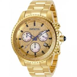 INVICTA 31991 MEN'S PRO DIVER SWISS CHRONOGRAPH WHITE, GOLD DIAL WATCH