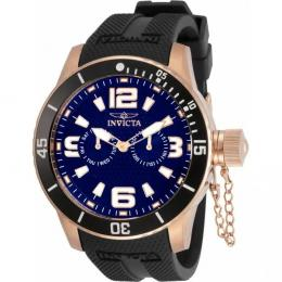 INVICTA 30701 MEN'S SPECIALTY BLUE DIAL BLACK SILICONE WATCH