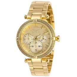 INVICTA 28957 WOMEN'S BOLT QUARTZ 3 HAND GOLD DIAL WATCH