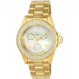 INVICTA 23576 WOMEN'S ANGEL QUARTZ 3 HAND WHITE DIAL LARGE SIZE WATCH