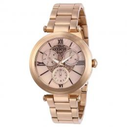INVICTA 28928 WOMEN'S ANGEL QUARTZ 3 HAND OYSTER ROSE GOLD DIAL WATCH